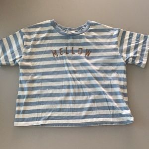 Striped and Embroidered American Eagle Shirt